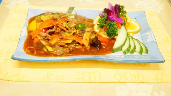 Beef in Peking style